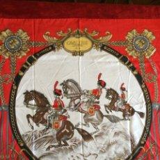 Antigüedades: PAÑUELO DE SEDA TIMMY. CAVALERIE LÉGÈRE 1810. Lote 56961796