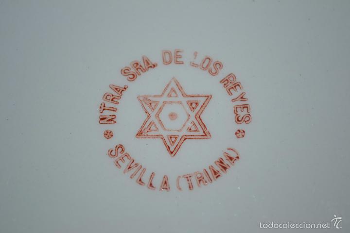 Antigüedades: PAREJA DE PLACAS CON PRECIOSAS PNTURAS DE TORERO Y MAJA,FCA. NTRA. SRA. DE LOS REYES,TRIANA(SEVILLA) - Foto 9 - 56968538