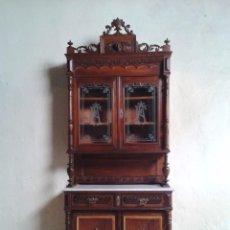 Aparador antiguo estilo alfonsino mueble vitrina alacena alfonsino isabelino isabelina