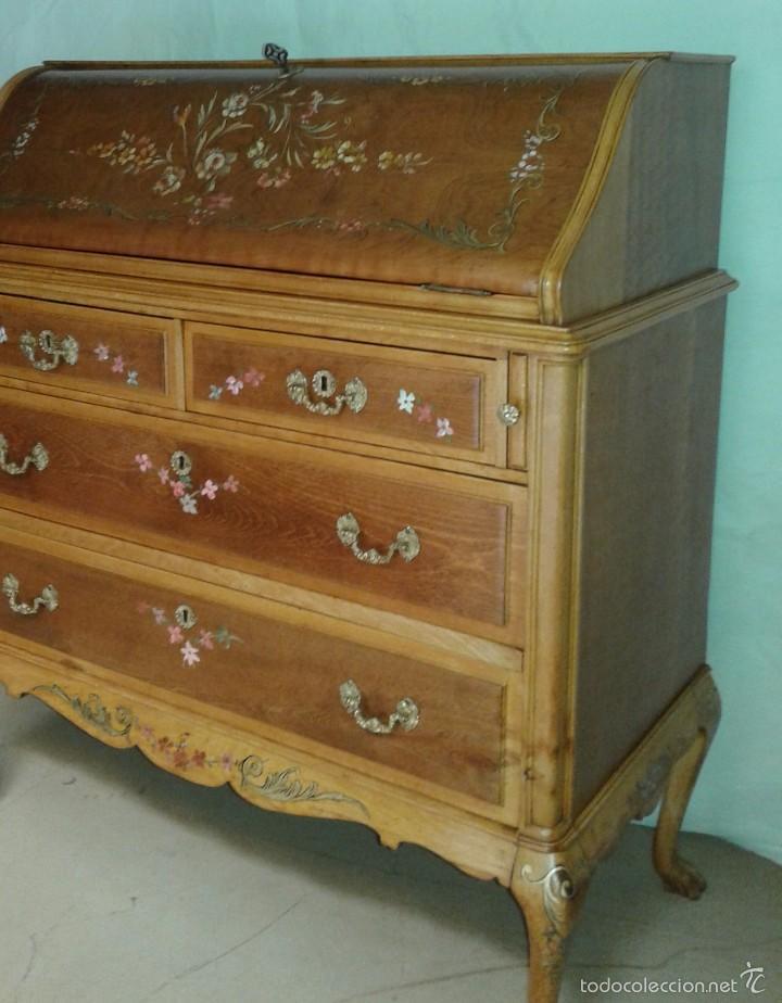 Antigüedades: Mueble canterano, primera mitad del siglo XX Decoración pintada a mano - Foto 2 - 56982204