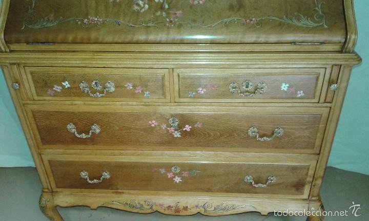 Antigüedades: Mueble canterano, primera mitad del siglo XX Decoración pintada a mano - Foto 3 - 56982204