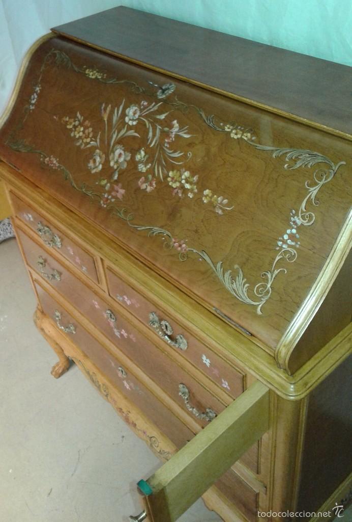 Antigüedades: Mueble canterano, primera mitad del siglo XX Decoración pintada a mano - Foto 8 - 56982204