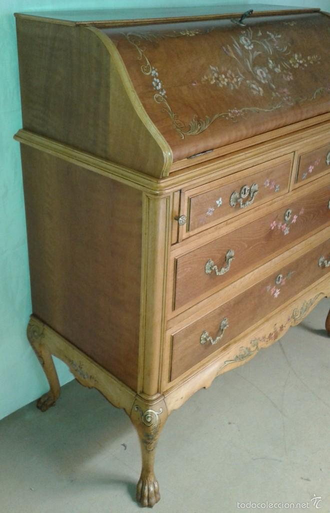 Antigüedades: Mueble canterano, primera mitad del siglo XX Decoración pintada a mano - Foto 9 - 56982204