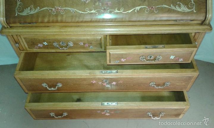 Antigüedades: Mueble canterano, primera mitad del siglo XX Decoración pintada a mano - Foto 10 - 56982204