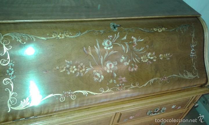 Antigüedades: Mueble canterano, primera mitad del siglo XX Decoración pintada a mano - Foto 12 - 56982204