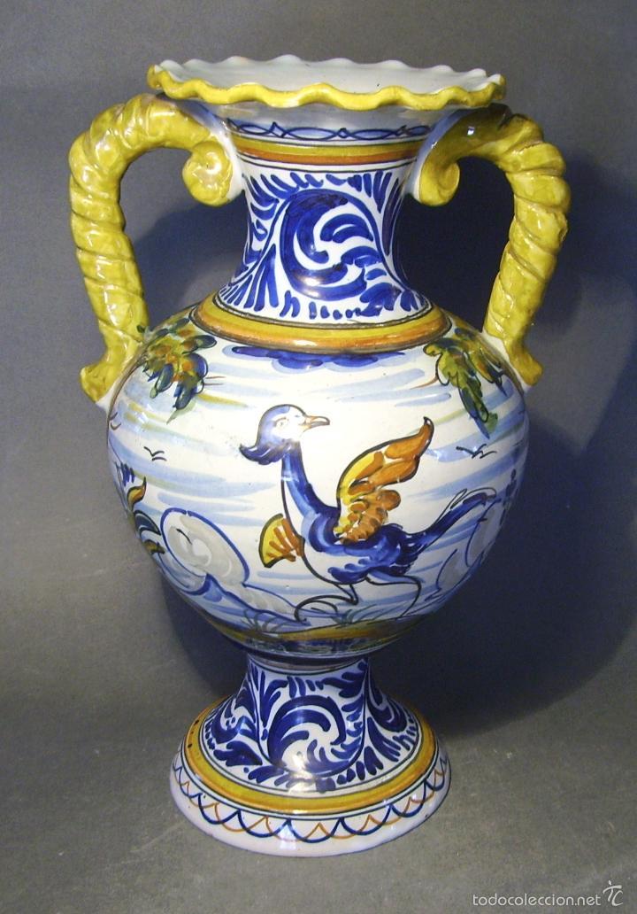 Antigüedades: GRAN JARRÓN CERÁMICA DE TALAVERA - Foto 2 - 57001512
