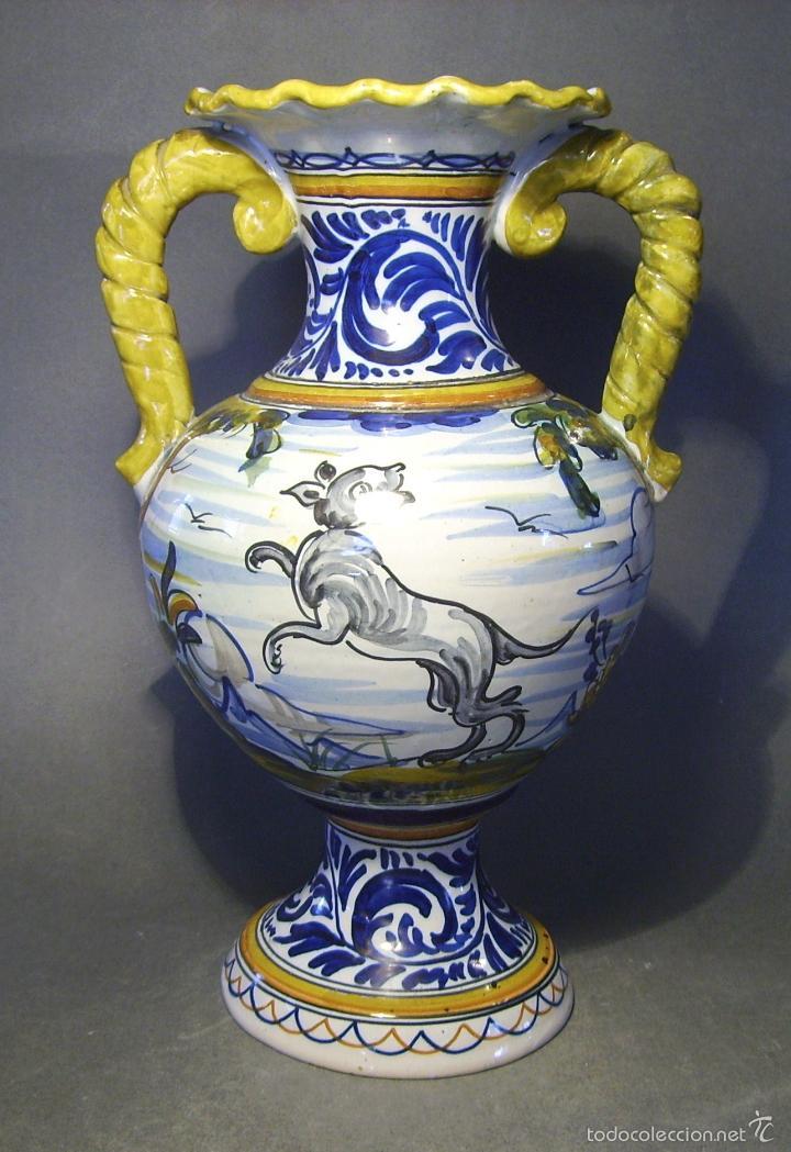 Antigüedades: GRAN JARRÓN CERÁMICA DE TALAVERA - Foto 4 - 57001512