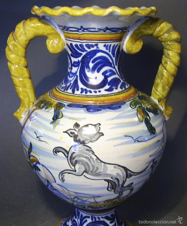 Antigüedades: GRAN JARRÓN CERÁMICA DE TALAVERA - Foto 8 - 57001512