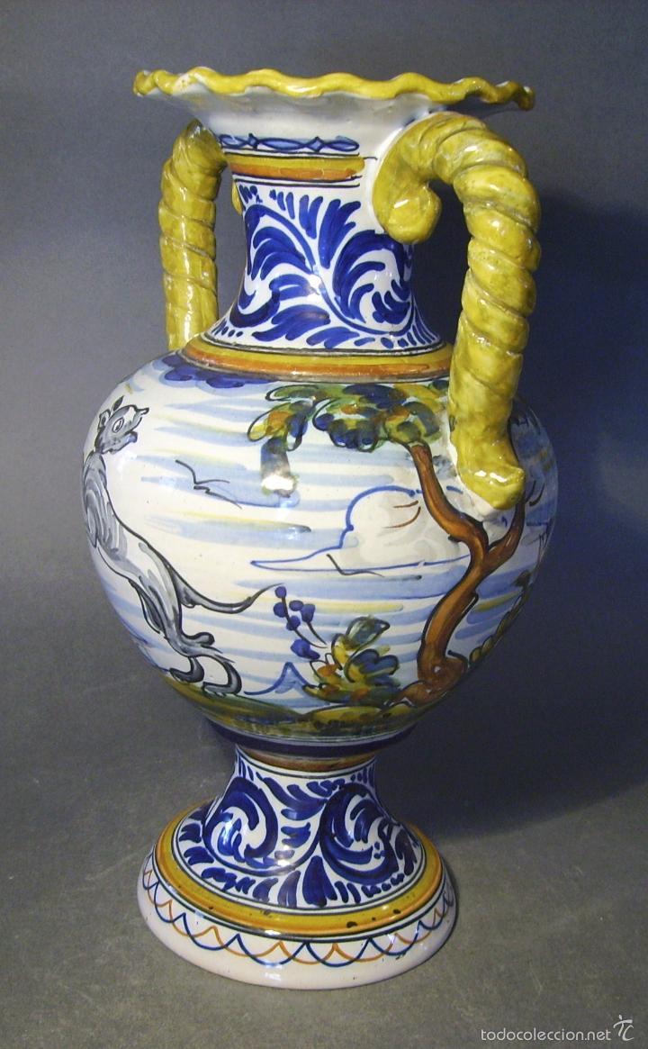 Antigüedades: GRAN JARRÓN CERÁMICA DE TALAVERA - Foto 10 - 57001512