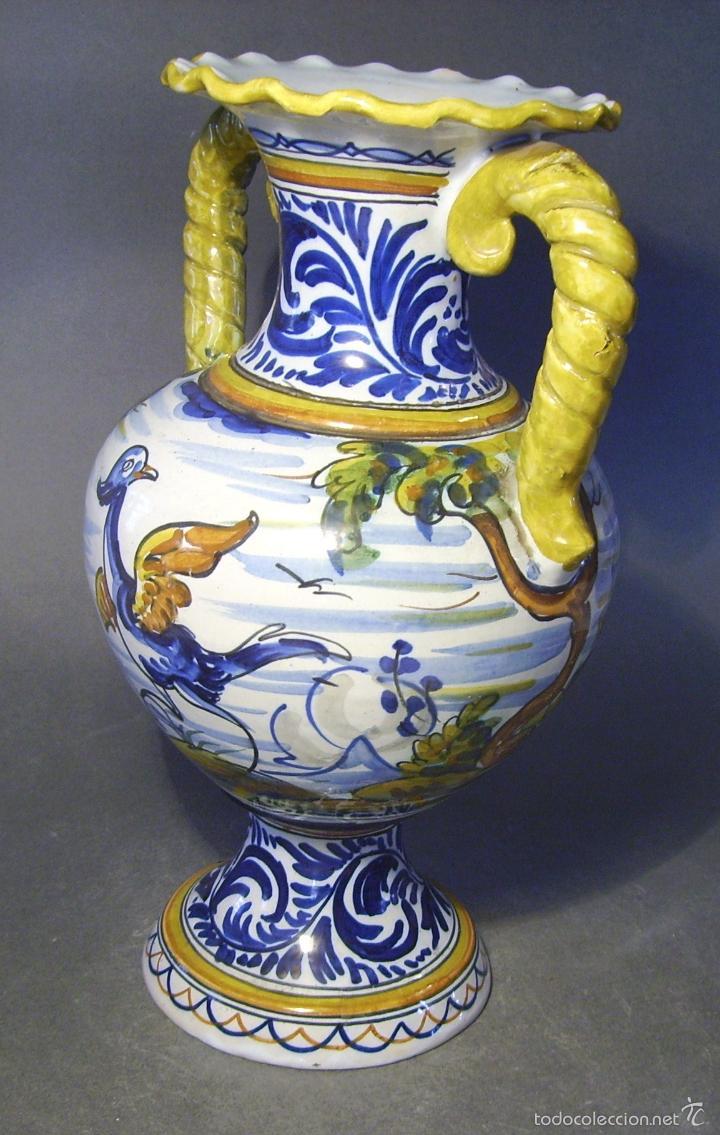 Antigüedades: GRAN JARRÓN CERÁMICA DE TALAVERA - Foto 11 - 57001512