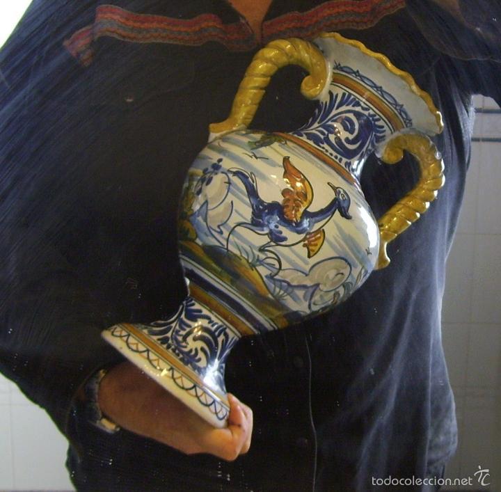 Antigüedades: GRAN JARRÓN CERÁMICA DE TALAVERA - Foto 12 - 57001512