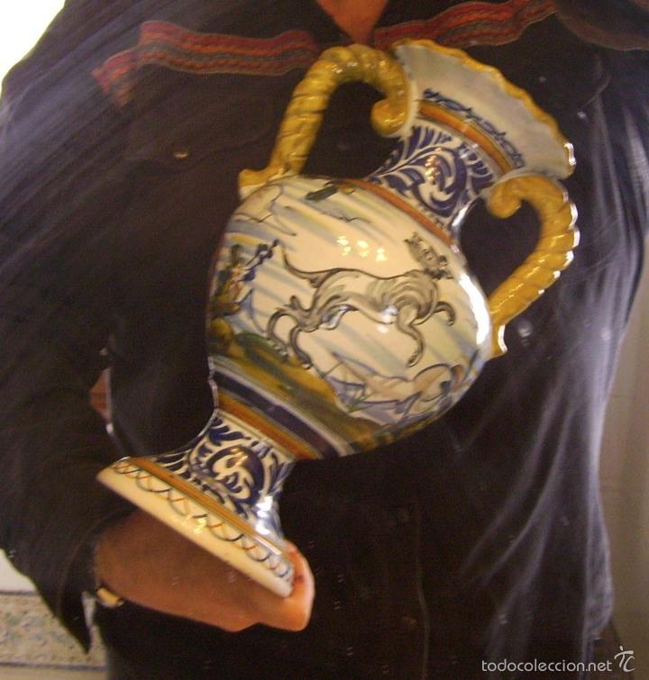 Antigüedades: GRAN JARRÓN CERÁMICA DE TALAVERA - Foto 13 - 57001512