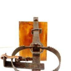 Antigüedades: CEPO DE CONEJOS PARA DECORACION FUNCIONANDO DE 31 CM DE LARGO POR 13 DE ANCHO ABIERTO . Lote 57500665