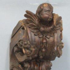 Antigüedades: ANTIGUA Y PRECIOSA MENSULA BARROCA DE MADERA TALLADA. SIGLO XVIII. Lote 57012884