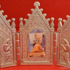 Antigüedades: CAPILLA PORTA PAZ TRIPTICO METALICO CAPILLA VIRGEN DEL LA CARIDAD CARTAGENA. Lote 57020024