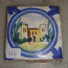 Antigüedades: ANTIGUO AZULEJO DE TRIANA.. Lote 57020858