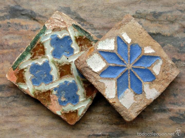 Antigua Y Pareja De Olambrillas Pequenos Azul Comprar Azulejos - Azulejos-con-dibujos