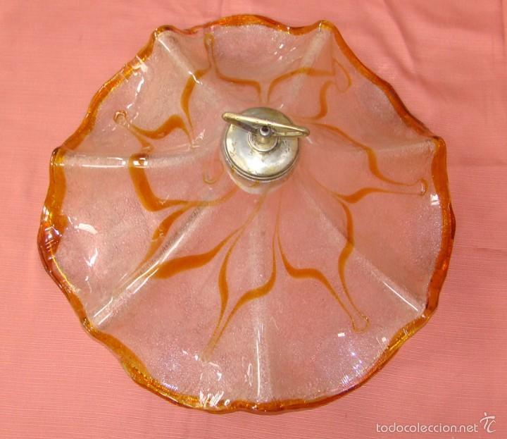 ANTIGUA LAMPARA DE CRISTAL DE MURANO (Antigüedades - Cristal y Vidrio - Murano)