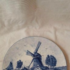 Antigüedades: PLATO MOLINO HOLANDA, DELFT BLAUW HANDPAINTED, MADE IN HOLLAND. Lote 57025735