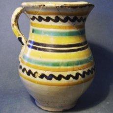 Antigüedades: JARRA CERÁMICA DE PUENTE DEL ARZOBISPO XIX . Lote 57031847