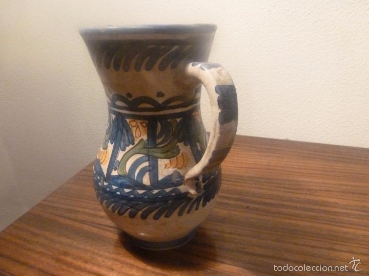 Antigüedades: jarra de ceramica de manises - Foto 2 - 57034119