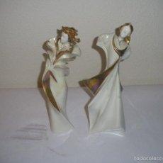 Antigüedades - Dos figuras de porcelana de la firma GALOS - 57034561