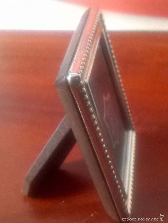 pequeño marco portafotos madera y plata argento - Comprar Portafotos ...