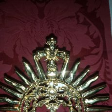 Antigüedades: CORONA DE METAL DORADA. Lote 57044983