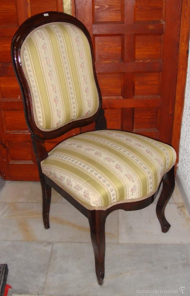 juego de 6 sillas de comedor. caoba. - Kaufen Antike Stühle in ...