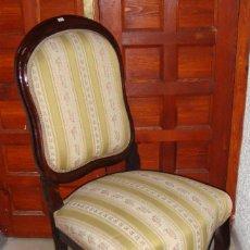 Antigüedades: JUEGO DE 6 SILLAS DE COMEDOR. CAOBA.. Lote 57045077
