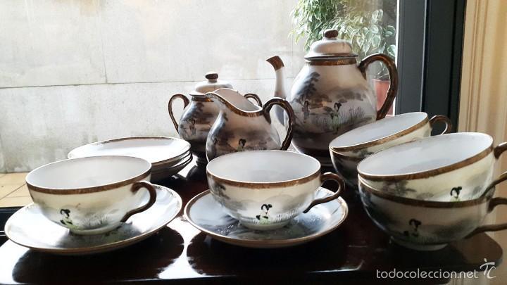 JUEGO DE CAFÉ. ANTIGUA PORCELANA FINA JAPONESA SIGLO XIX (Antigüedades - Porcelanas y Cerámicas - Otras)