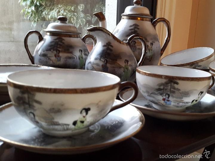 Antigüedades: Juego de café. Antigua porcelana fina JAPONESA SIGLO XIX - Foto 2 - 57045841