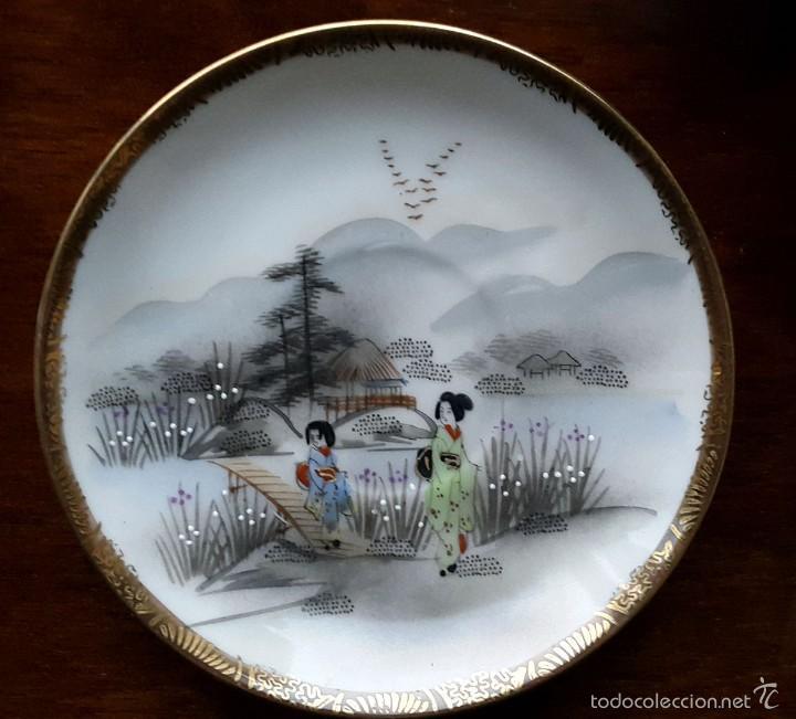 Antigüedades: Juego de café. Antigua porcelana fina JAPONESA SIGLO XIX - Foto 4 - 57045841