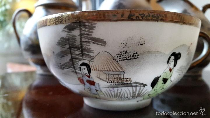 Antigüedades: Juego de café. Antigua porcelana fina JAPONESA SIGLO XIX - Foto 7 - 57045841