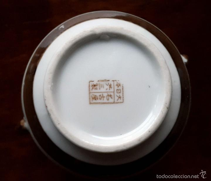 Antigüedades: Juego de café. Antigua porcelana fina JAPONESA SIGLO XIX - Foto 10 - 57045841