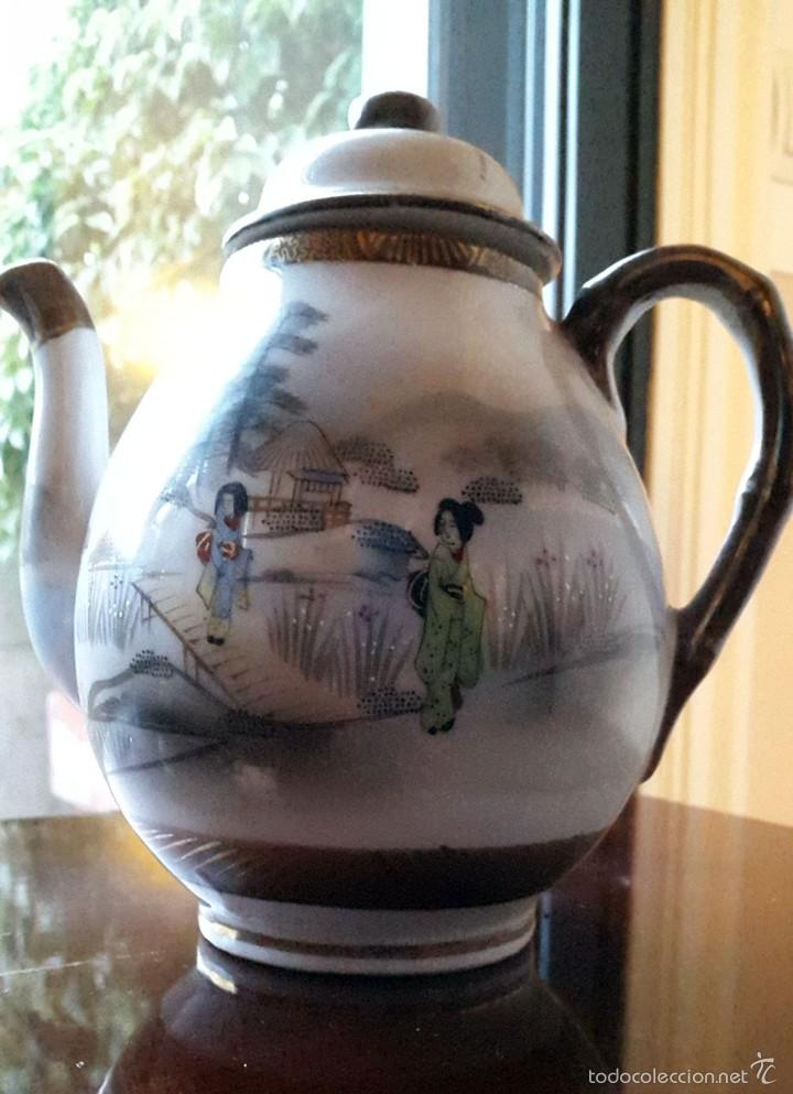 Antigüedades: Juego de café. Antigua porcelana fina JAPONESA SIGLO XIX - Foto 11 - 57045841