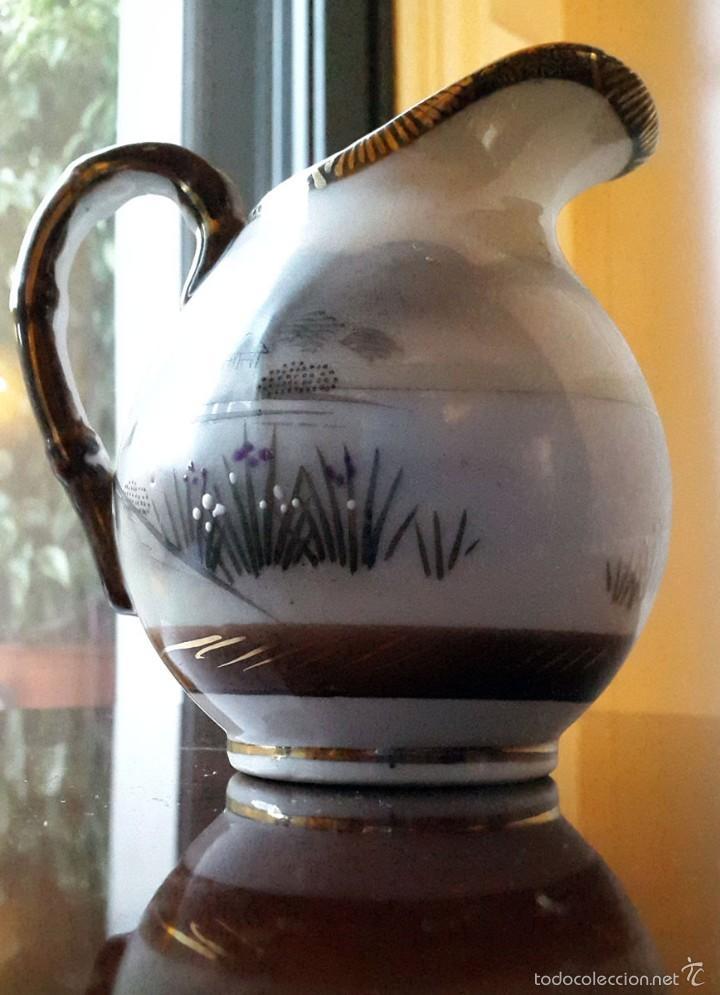 Antigüedades: Juego de café. Antigua porcelana fina JAPONESA SIGLO XIX - Foto 14 - 57045841