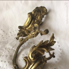 Antigüedades: BONITO ADORNO - ALZA PAÑOS EN BRONCE DORADO PP S. Lote 57046240