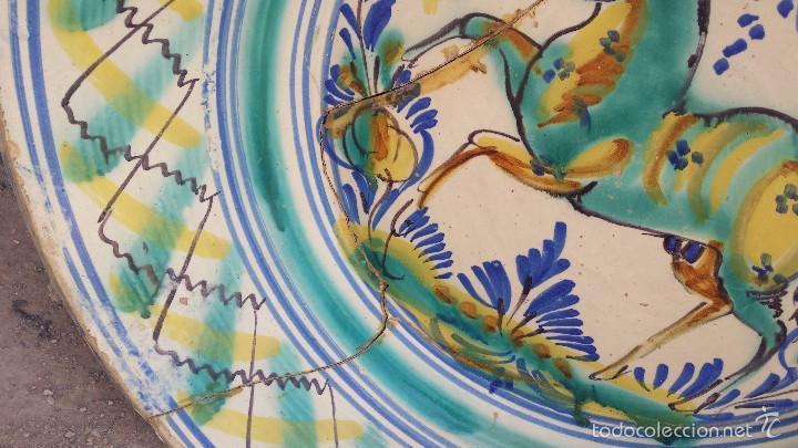 Antigüedades: antiguo lebrillo de triana pintado a mano - Foto 3 - 57047283