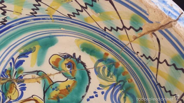 Antigüedades: antiguo lebrillo de triana pintado a mano - Foto 4 - 57047283