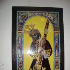 Antigüedades: RETABLO CERAMICO AZULEJOS (GRAN PODER). Lote 39438802