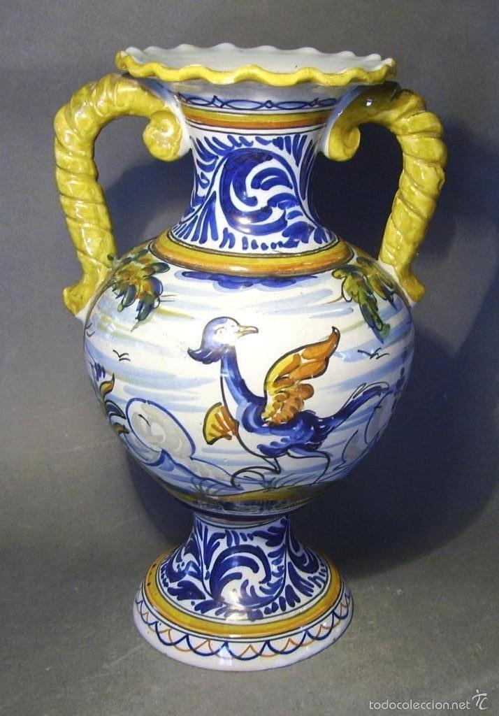 GRAN JARRÓN CERÁMICA DE TALAVERA (Antigüedades - Porcelanas y Cerámicas - Talavera)