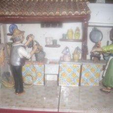 Antiquitäten - Escena rústica, cerámica, firmada J. Royo - 57028677