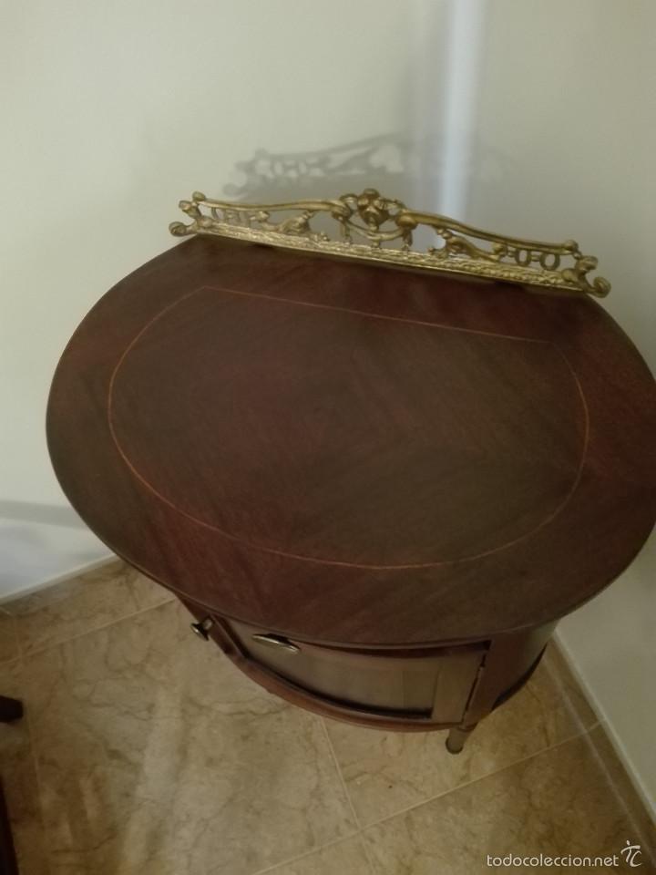 Antigüedades: MUEBLE LICORERA MADERA MACIZA - Foto 2 - 57052623