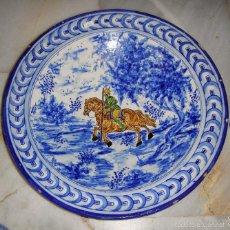 Antigüedades: PLATO GRANDE, FUENTE O GRAN CUENCO. TALAVERA. FIRMADO.. Lote 57053788