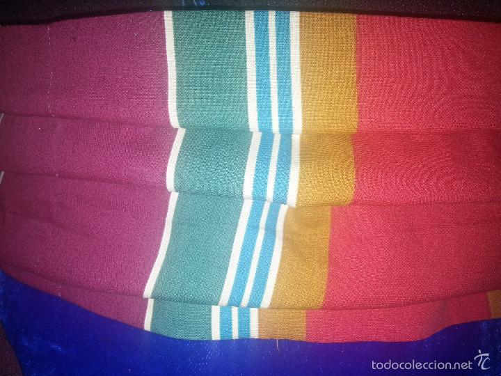Antigüedades: precioso fajin cinturilla para vestimenta virgen hebrea tamaño natural con flecos mas de 3 metros - - Foto 2 - 112704323