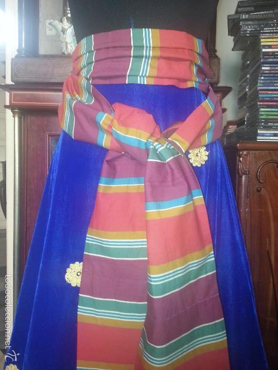 Antigüedades: precioso fajin cinturilla para vestimenta virgen hebrea tamaño natural con flecos mas de 3 metros - - Foto 4 - 112704323
