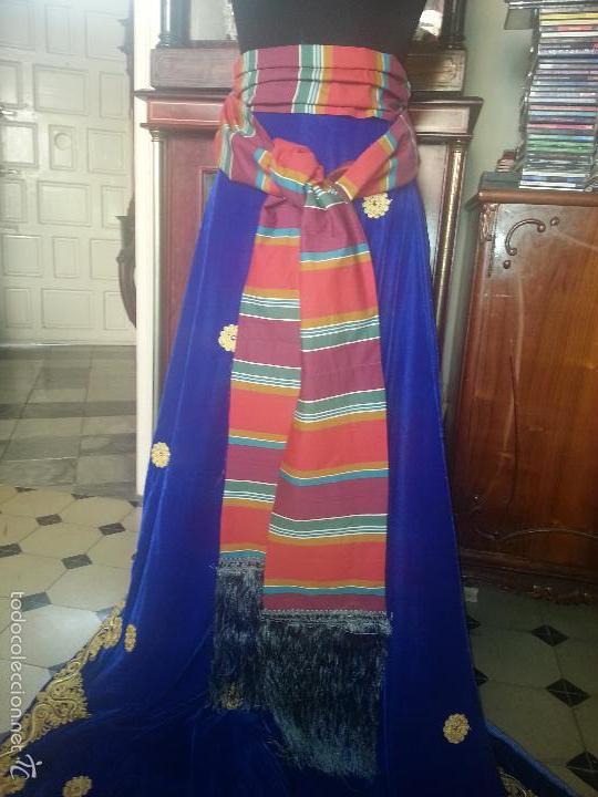 Antigüedades: precioso fajin cinturilla para vestimenta virgen hebrea tamaño natural con flecos mas de 3 metros - - Foto 6 - 112704323