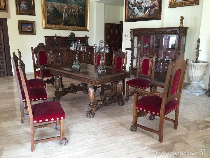 comedor antiguo renacimiento nogal - Comprar Mesas Antiguas en ...