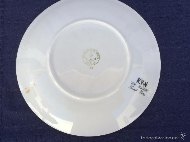 Antigüedades: PLATO DE CERAMICA ESMALTADA LA CARTUJA - Foto 4 - 57060399